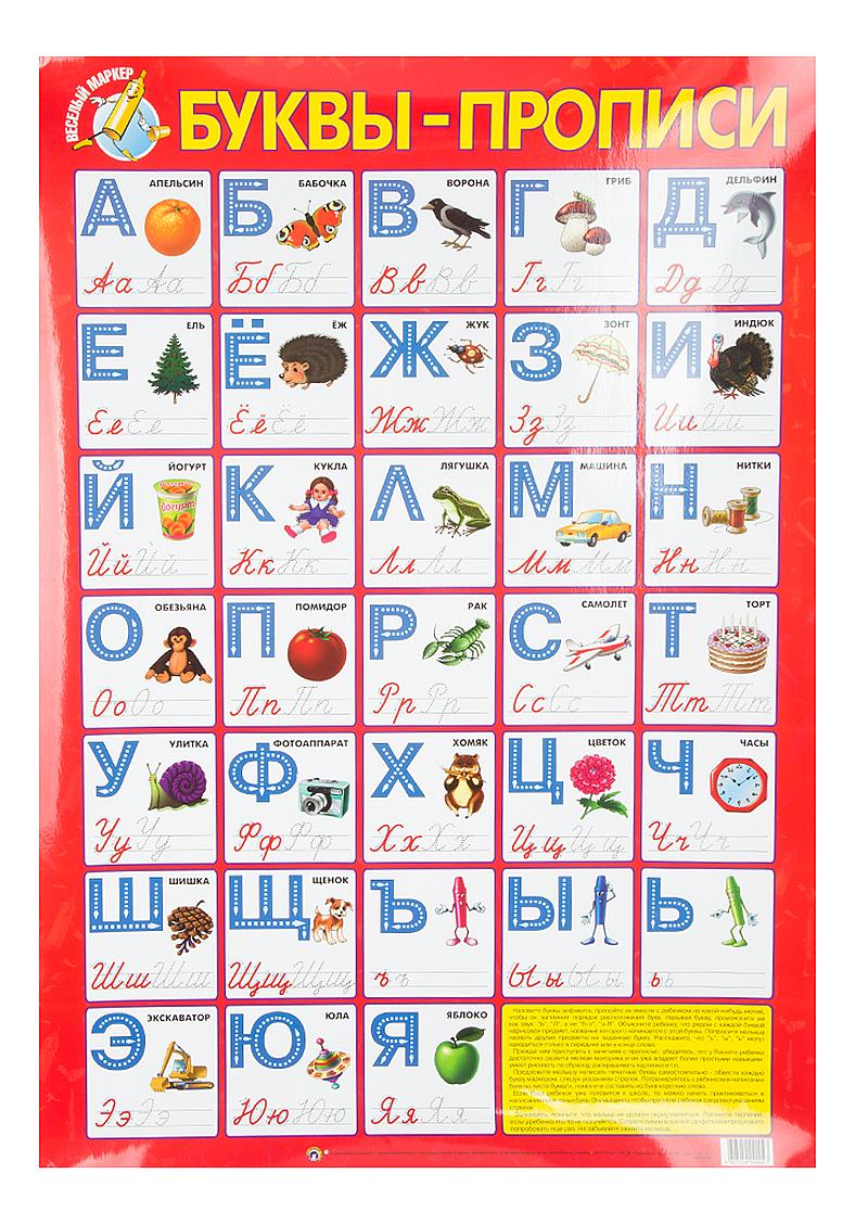 Плакат Маленький гений Буквы прописи