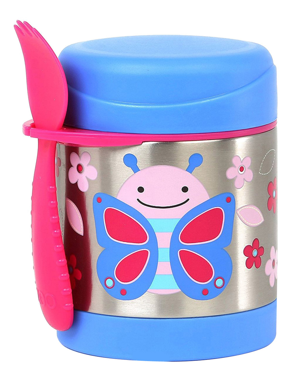 Фото - Термос Skip Hop Бабочка SH 252381 0,33 л голубой/розовый/серебристый Бабочка SH 252381