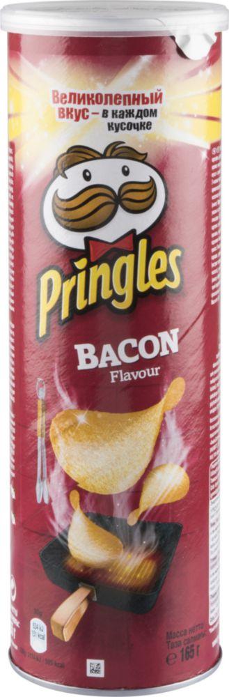Картофельные чипсы Pringles со вкусом бекона 165 г фото