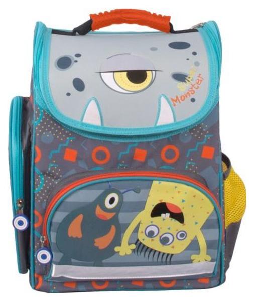 Купить Рюкзак Gulliver Монстрик Гошик M19 Серый, Школьные рюкзаки и ранцы