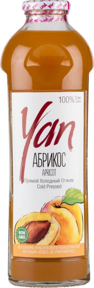 Сок прямого отжима Yan абрикос 0.93 л