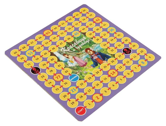 Купить Настольная игра Play Land Красавица и Чудовище , Семейные настольные игры