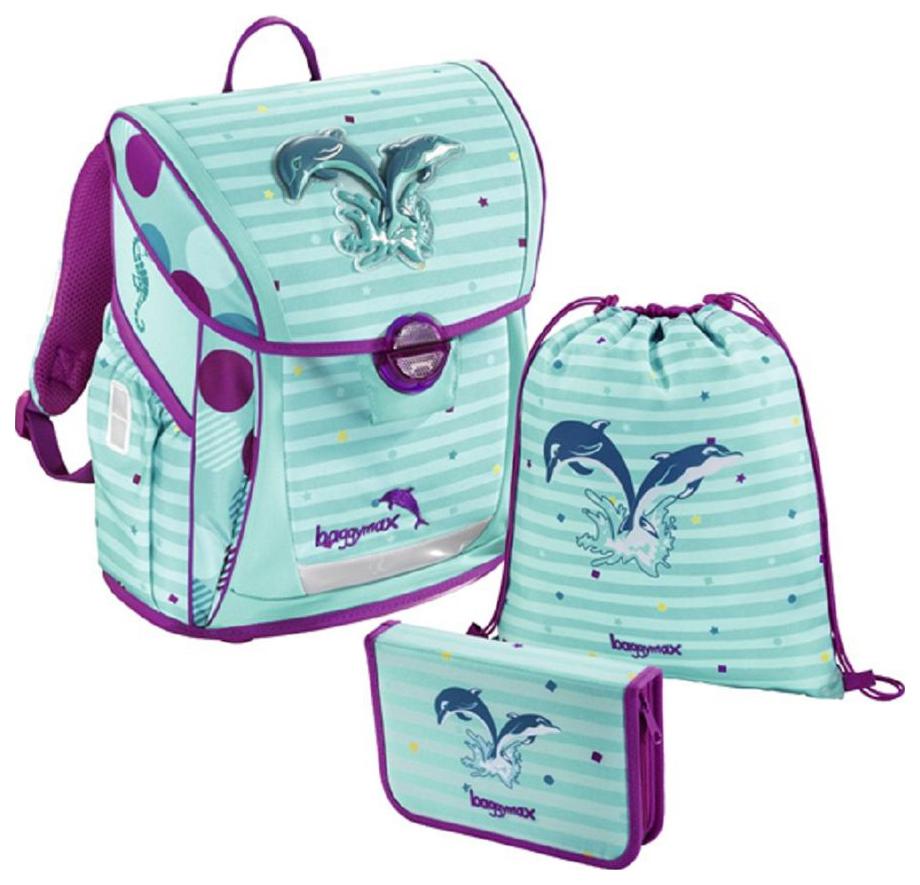 Ранец с наполнением Step by Step BaggyMax Fabby Дельфины 18 л Фиолетовый/Зеленый