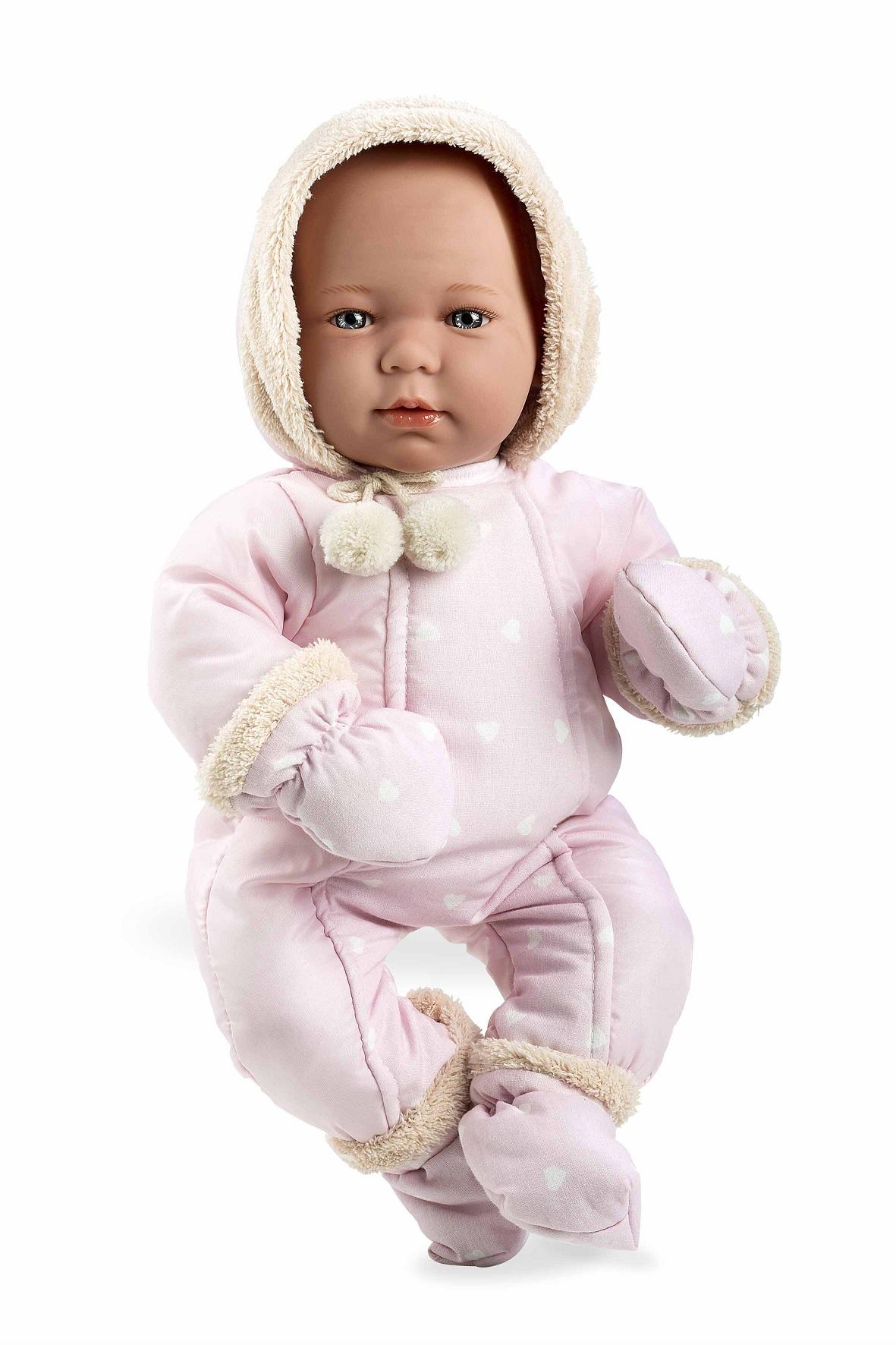 Купить Пупс в розовой одежде с соской 45 см Arias Т11110, Пупсы
