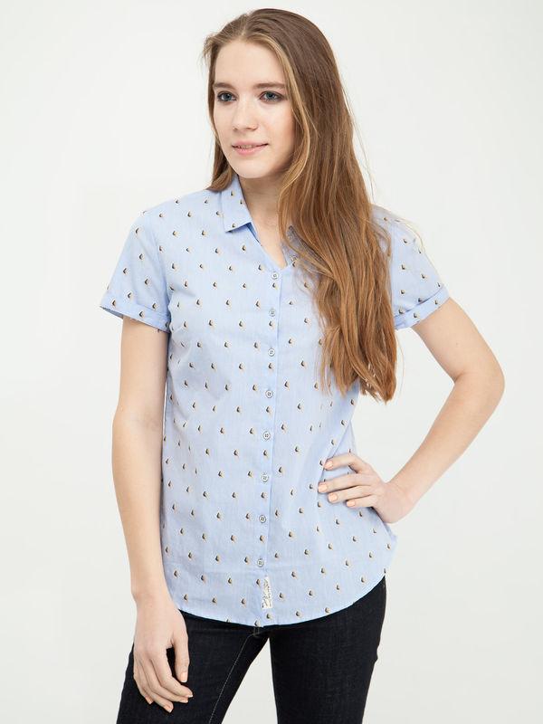 Рубашка женская Lee cooper W20009-0125/GW16 голубая S OF000641413