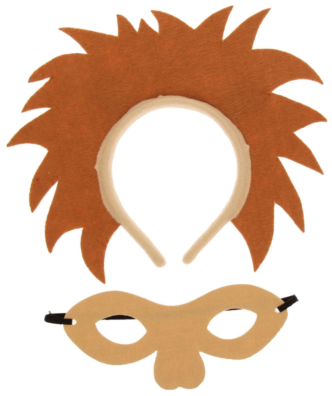 Карнавальный набор маска и ободок Лева, коричневая грива Страна Карнавалия фото