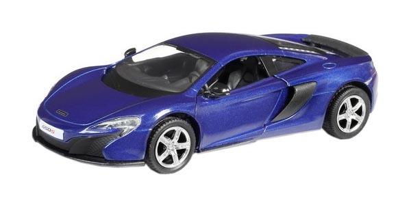 Купить Машина металлическая RMZ City 1:32 McLaren 650S, инерционная, цвет синий, Uni-Fortune, Игрушечные машинки