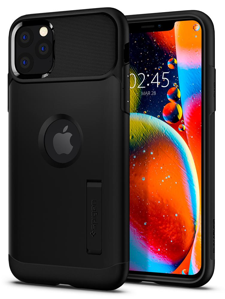 Чехол Spigen Slim Armor 075CS27047 для iPhone 11 Pro Max Black, Slim Armor для iPhone 11 Pro Max