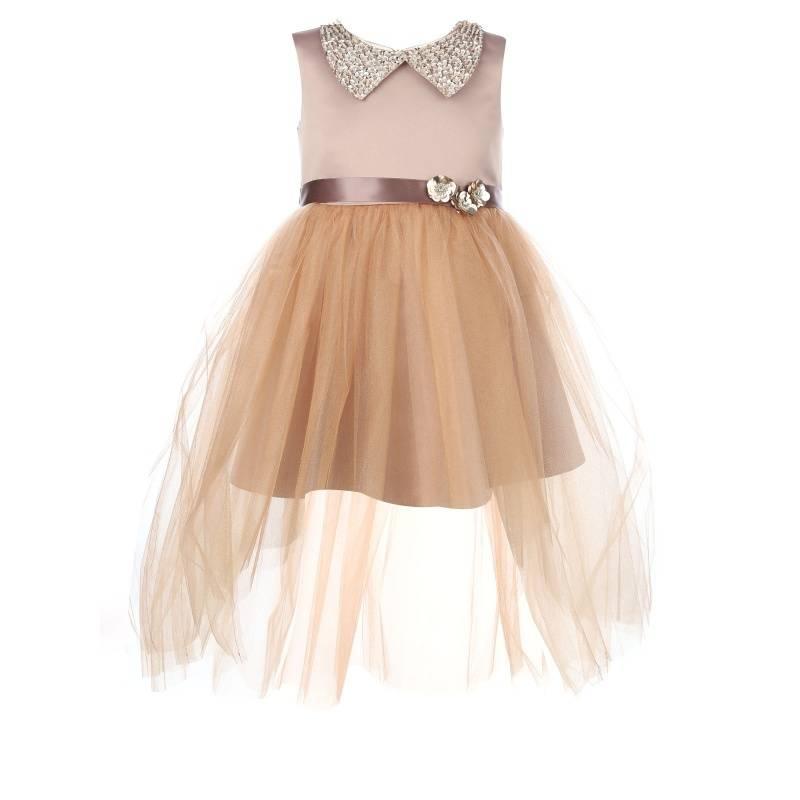Купить Платье Паулина UNONA D'ART, цв. оранжевый, 134 р-р, Детские платья и сарафаны