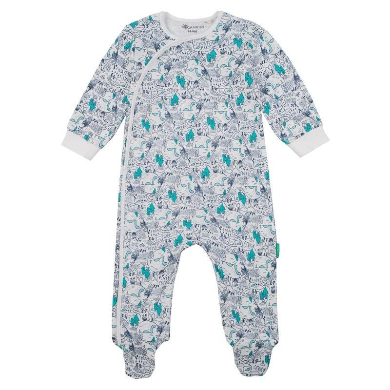 Купить Комбинезон KOGANKIDS, цв. бежевый, 74 р-р, Трикотажные комбинезоны для новорожденных