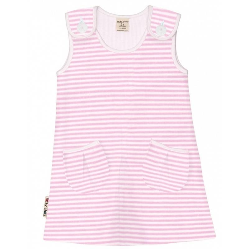 Купить 4-65/БЕЛО-РОЗОВЫЙ, Сарафан Lucky Child, цв. розовый, 104 р-р, Сарафаны для девочек