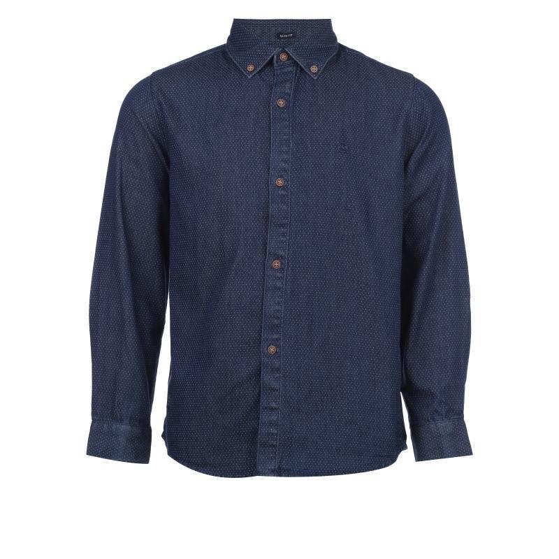 Купить 7.142/68, Рубашка MAYORAL, цв. темно-синий, 166 р-р, Детские блузки, рубашки, туники
