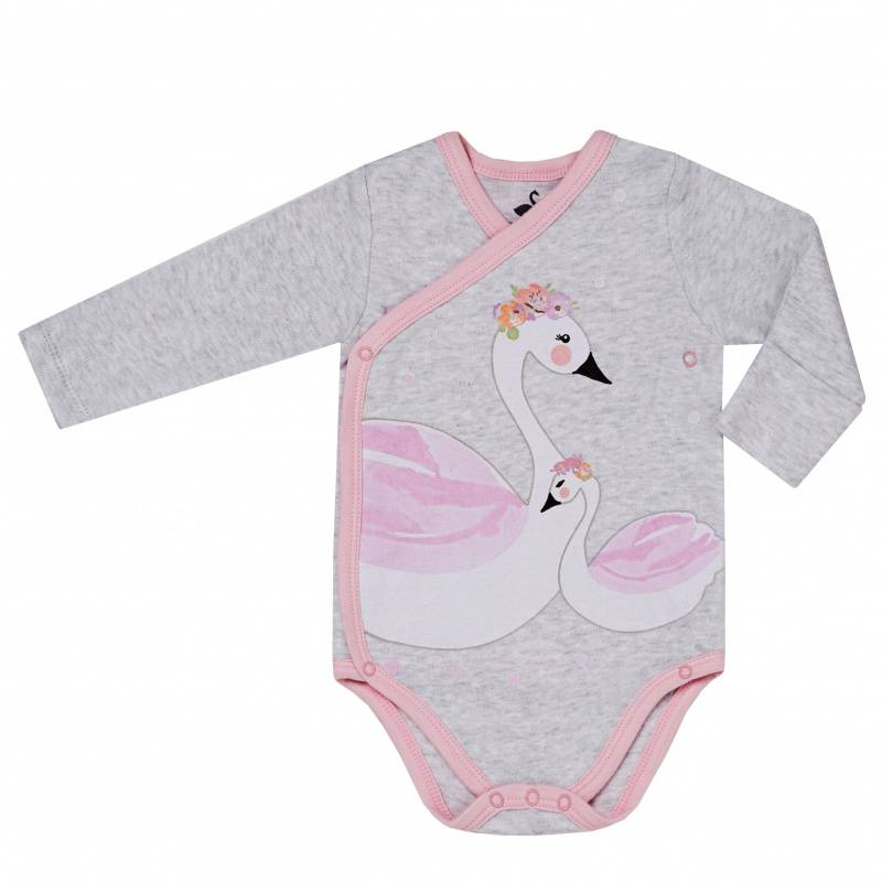 Купить DK-058, Боди Diva Kids, цв. серый, 80 р-р, Боди для новорожденных