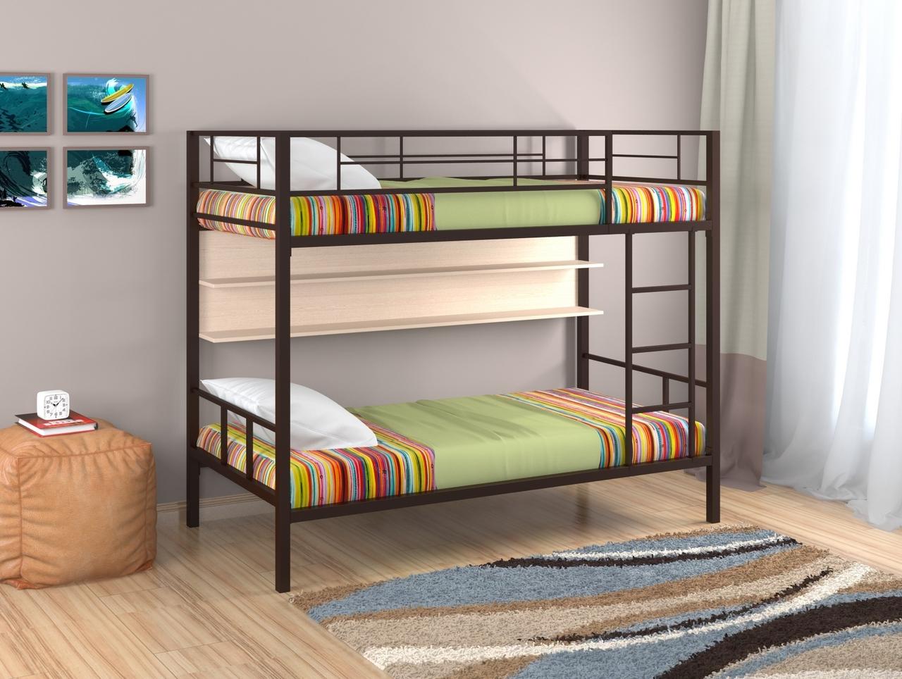 Двухъярусная кровать Redford Севилья 2 с полкой