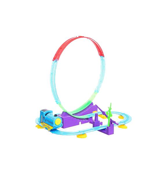 Купить Трек Yako Toys с мёртвой петлёй Сказочные горки со световыми эффектами 28 деталей, Детские автотреки