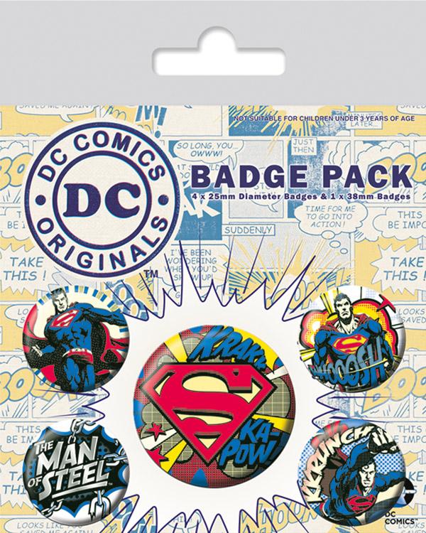 Набор значков Pyramid DC Originals - Superman Comic (5 шт) BP80551