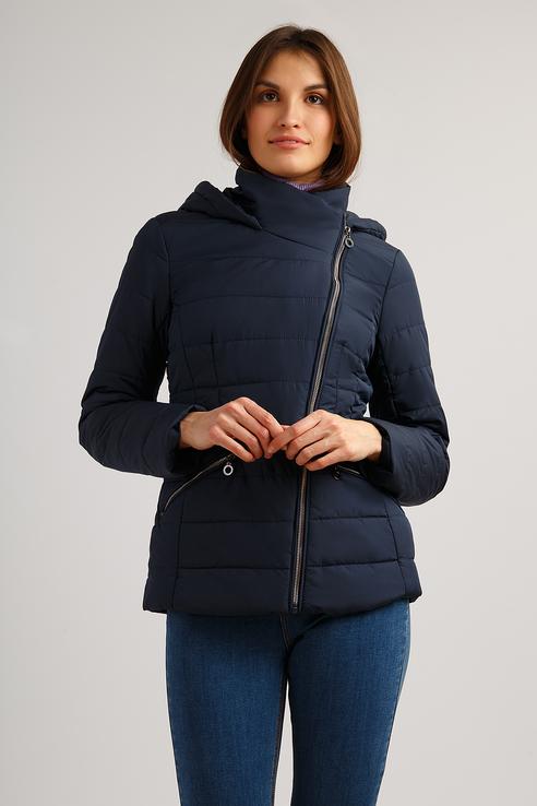 Куртка женская Finn Flare B19-11025 синий M фото