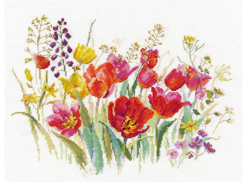 Набор для вышивания Алиса Полевые тюльпаны арт.136174