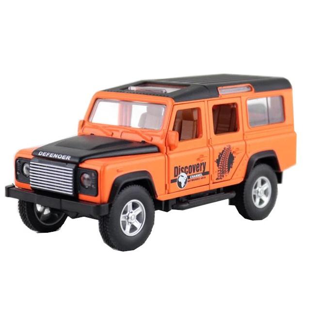 Купить Коллекционная модель машины джип RENG DEF инерционная, 14.6см, цв. оранжевый, Shantou Gepai, Игрушечные машинки
