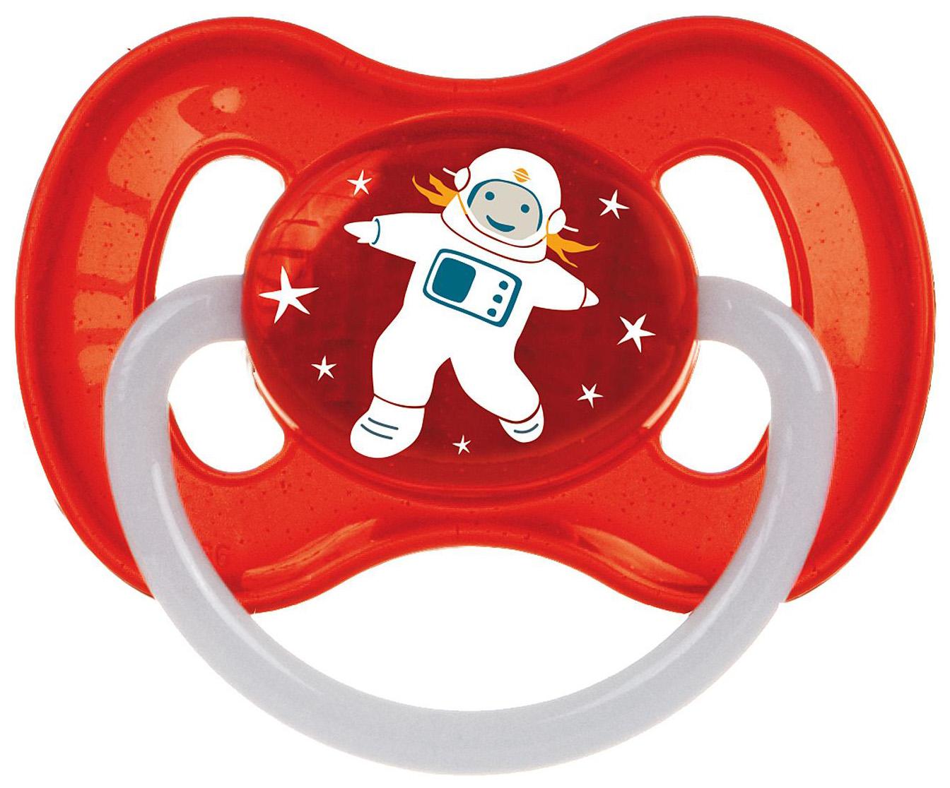 Пустышка латексная Canpol Babies Space 0-6 мес 23/221/Красный