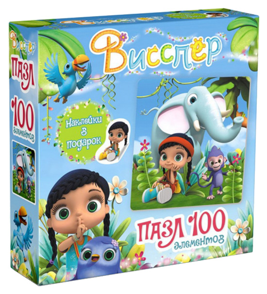 Купить Пазл Origami 100 Висспер И Слонёнок + Наклейки, Пазлы