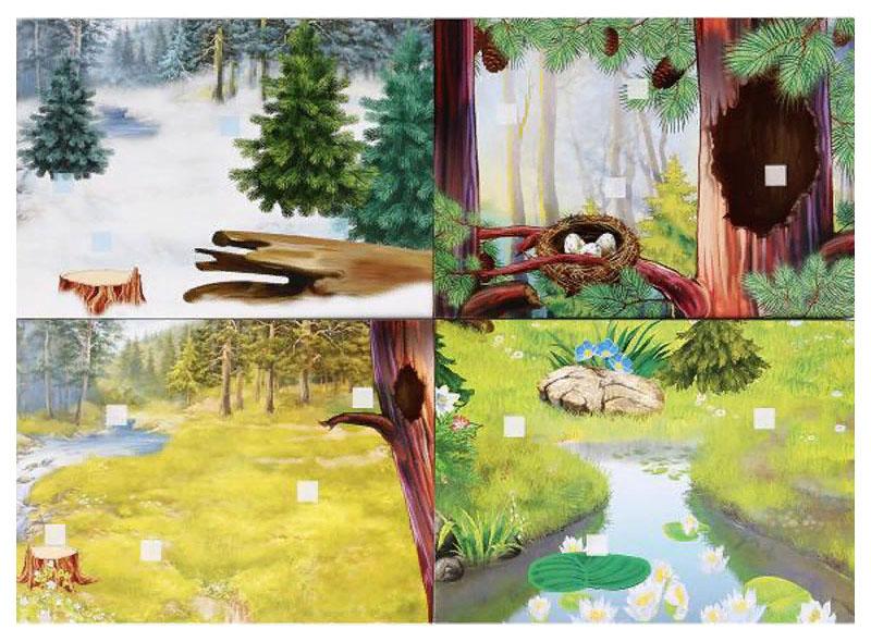 Развивающая Игра с липучками Умка Лесные Животные