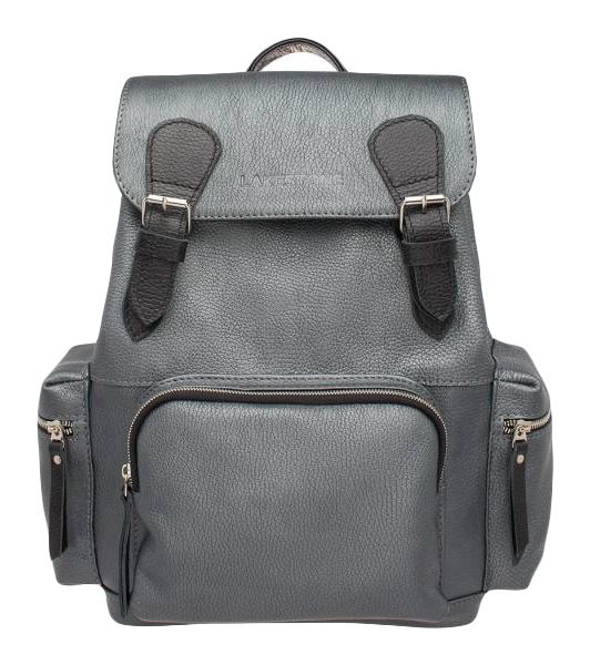 Рюкзак кожаный Lakestone Garrett серебристый 12 л