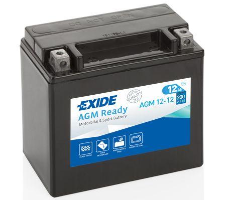 Аккумулятор автомобильный EXIDE AGM12-12 12 Ач