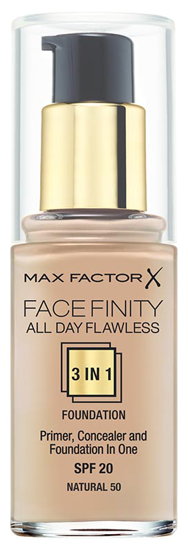 Тональный крем Max Factor Face Finity All Day Flawless 3-in-1 тон 50 Natural 30 мл