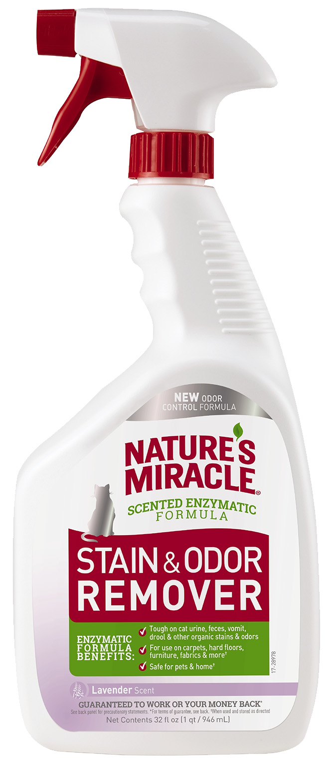 Nature's Miracle / Нейтрализатор пятен и запаха Nature's Miracle Cat Stain&Odor Remover Spray Лаванда 946 мл