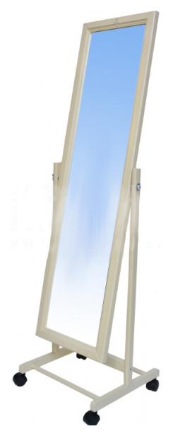 Зеркало напольное Мебелик 1998 48х138 см, слоновая кость
