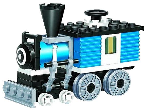 Конструктор пластиковый Brick Паровоз, 59 дет.