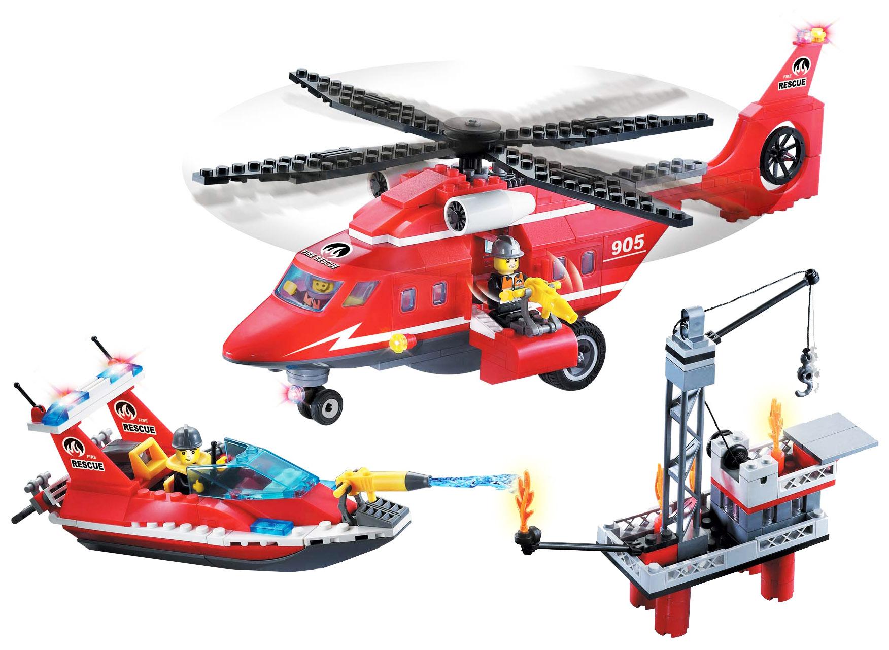 Конструктор пластиковый Brick Fire Rescue, 404 дет.