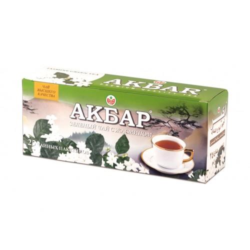 Чай зеленый Akbar с жасмином 25 пакетиков фото