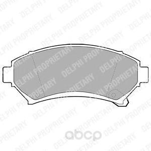 Тормозные колодки дисковые DELPHI LP1609 фото