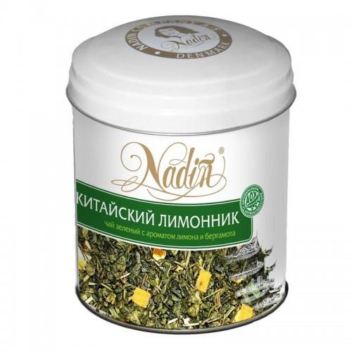 Чай зеленый листовой Nadin китайский лимонник 75 г