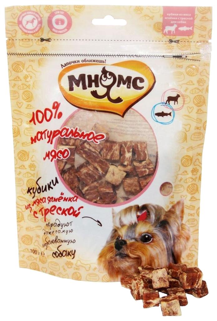 Лакомство для собак Мнямс, кубики из мяса, ягненок