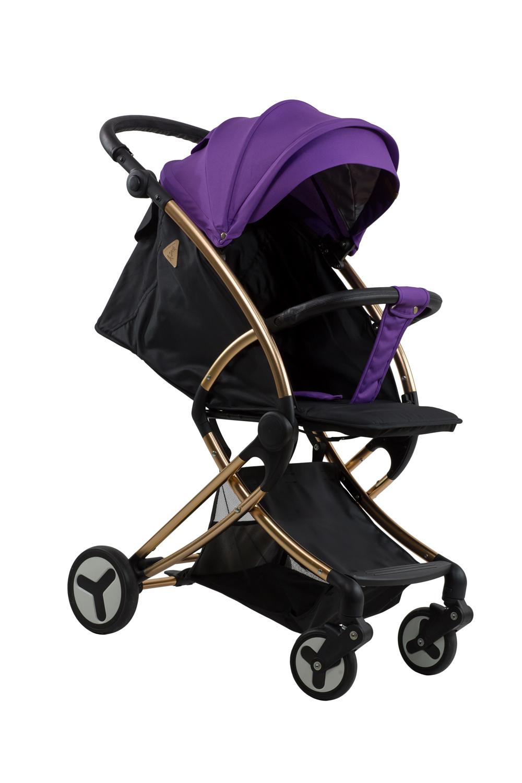 Купить Коляска детская прогулочная Aimile Summer Gold TM Farfello фиолетово-черный арт.FPG-1, Коляски книжки