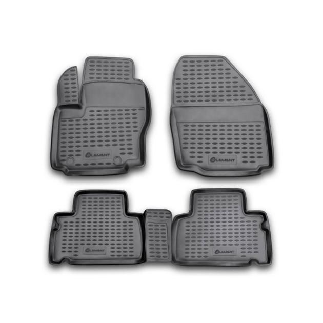 Коврики в салон Element для VW Golf VI 04/2009, 4 шт. полиуретан, серые