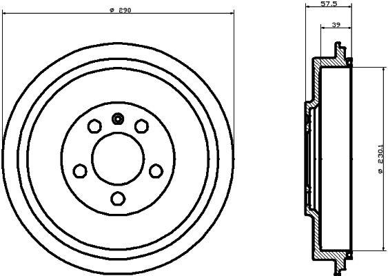 Тормозной барабан TEXTAR 94024300