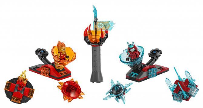Купить Ninjago Action Toy, Конструктор LEGO Ninjago Бой мастеров кружитцу — Кай против Самурая, LEGO для девочек