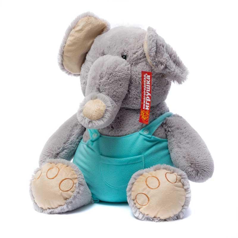 Купить Мягкая игрушка Слон в одежде 55 см Нижегородская игрушка См-588-5, Мягкие игрушки животные