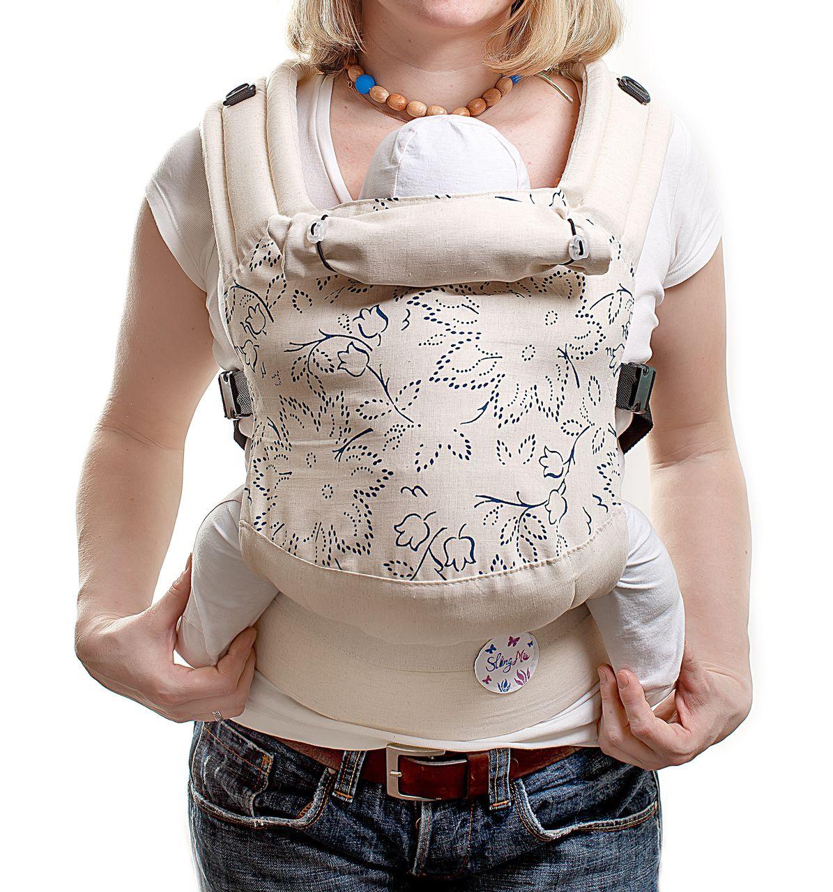 Купить Эргономичный рюкзак SlingMe Аннель Эко серия Лен, Рюкзак-кенгуру