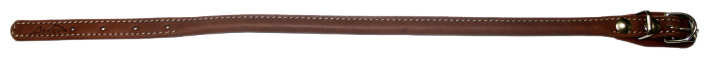 Ошейник для собак Аркон Чау-чау, круглый, кожаный, коньячный, 45-53 см x 17 мм