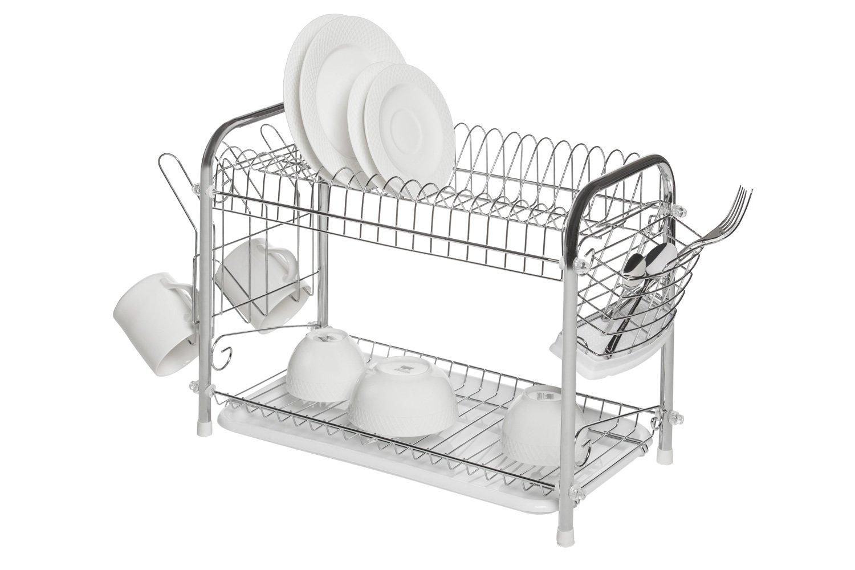 Сушилка для посуды 2 х ярусная BERKRAFT