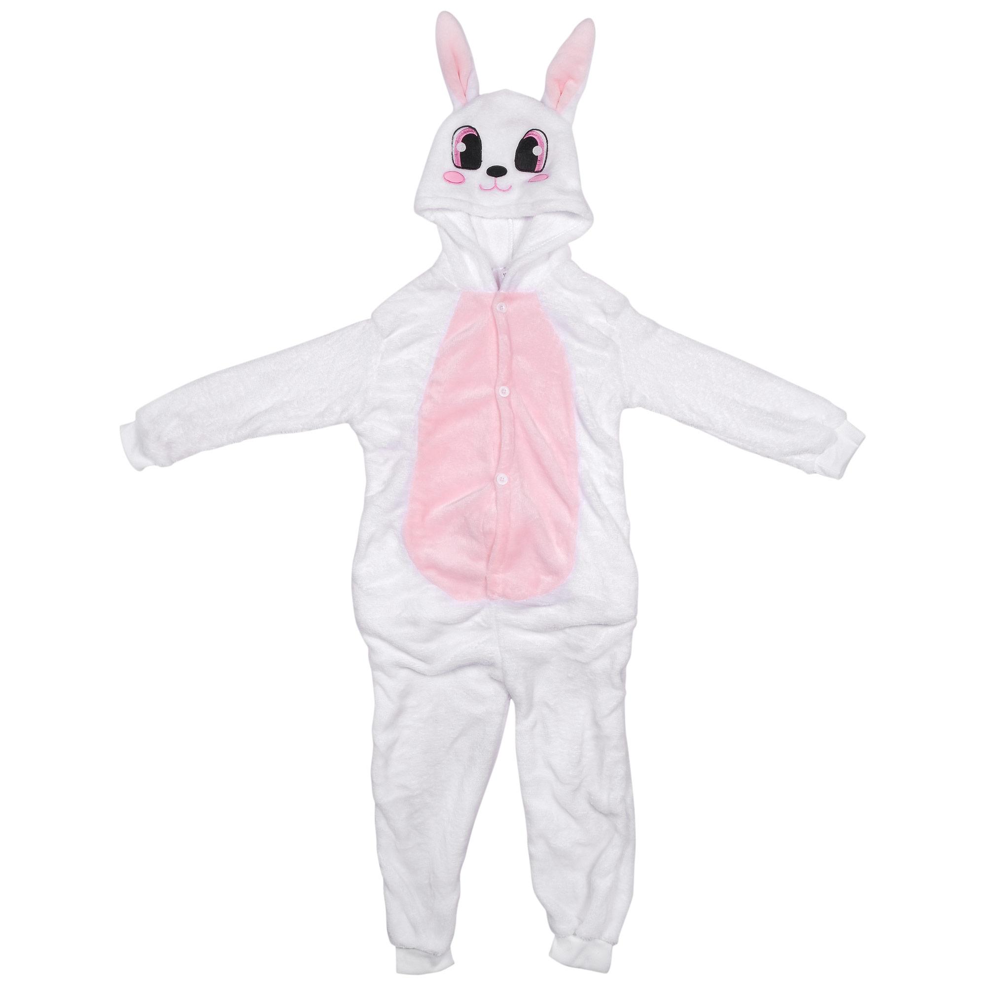 Купить Розовый заяц, Пижама-кигуруми Lilkrok Розовый Заяц 116-125см, Пижамы для девочек