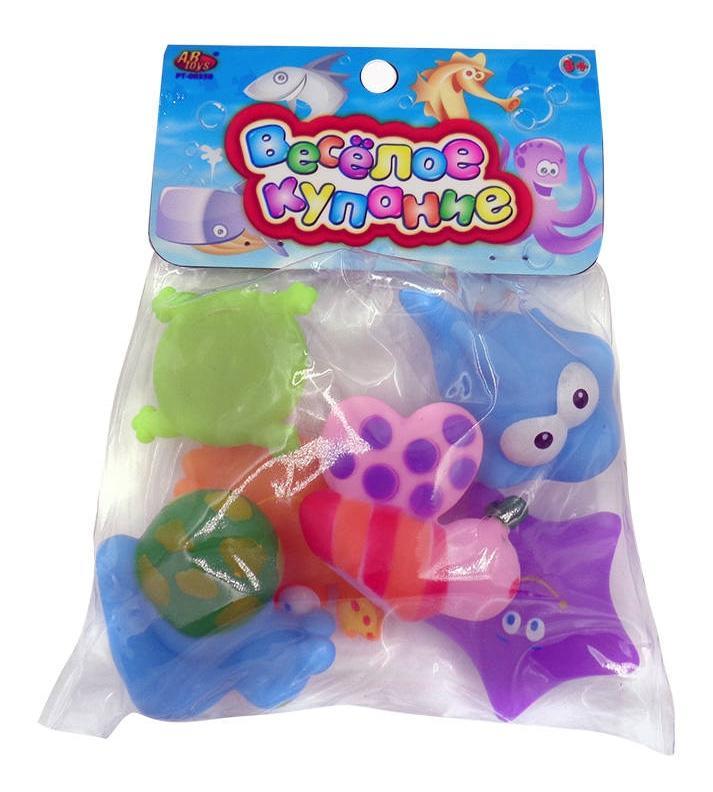 Купить Веселое купание. набор резиновых игрушек для ванной pt-00350, ABtoys, Игрушки для купания малыша