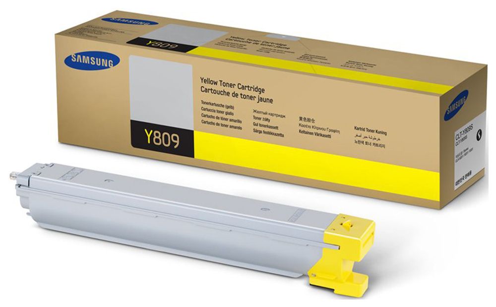 Картридж для лазерного принтера Samsung CLT-Y809S, желтый, оригинал