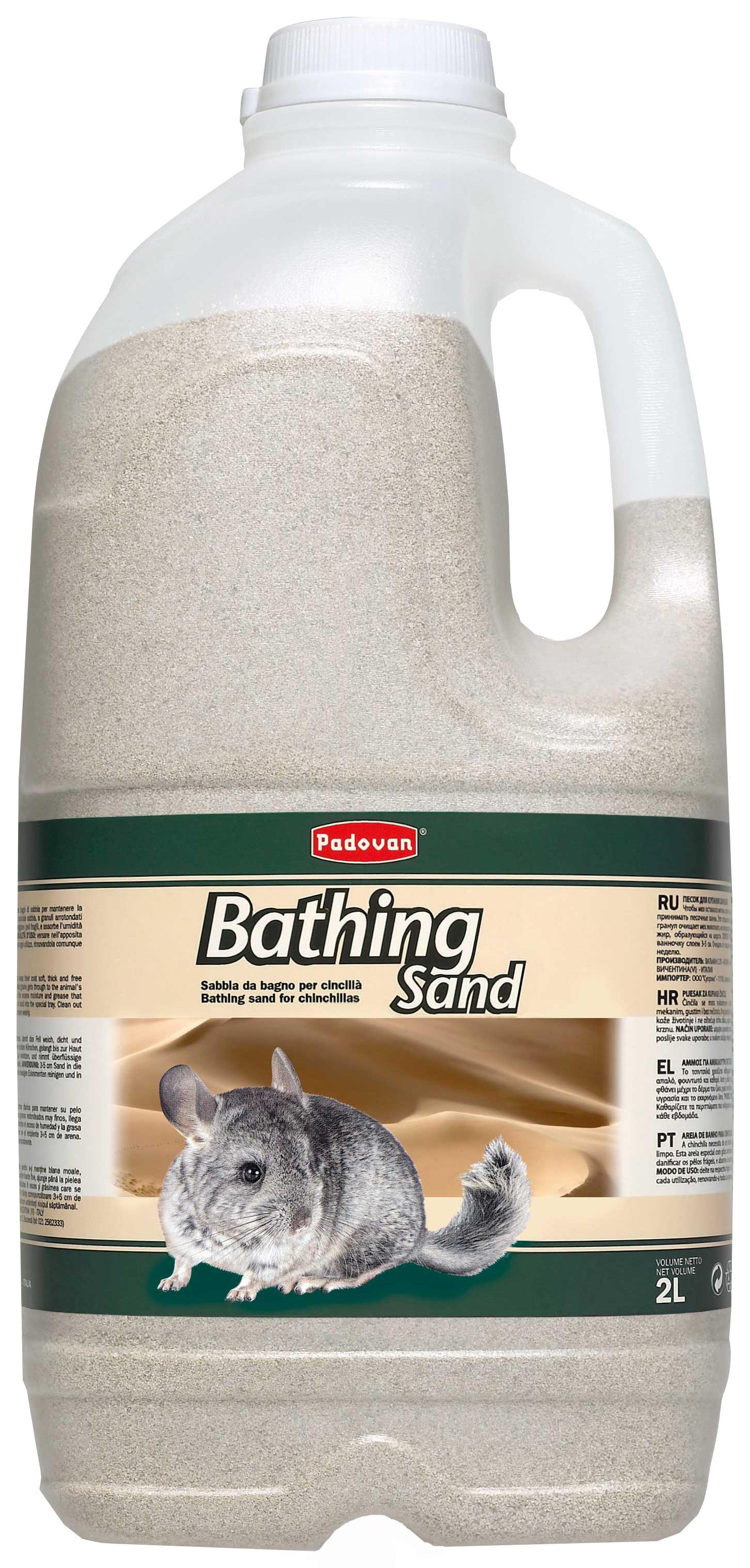 Песок для купания шиншилл Padovan Bathing Send,