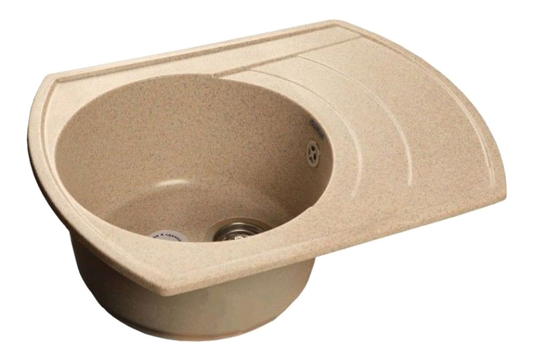 Мойка для кухни из мрамора GranFest Rondo GF-R650L песок